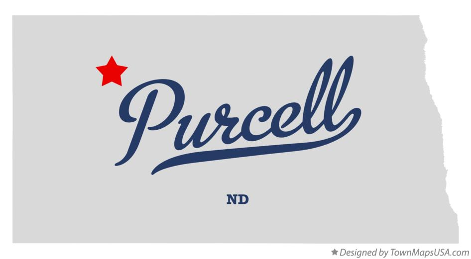 Map of Purcell North Dakota ND