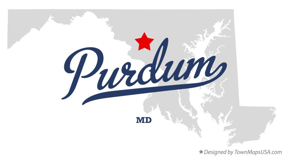 Map of Purdum Maryland MD