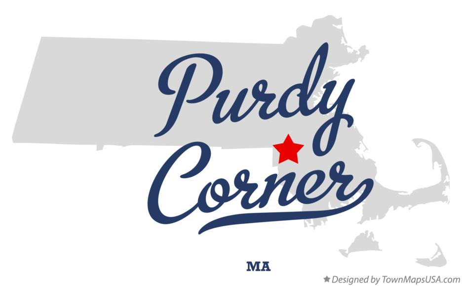 Map of Purdy Corner Massachusetts MA