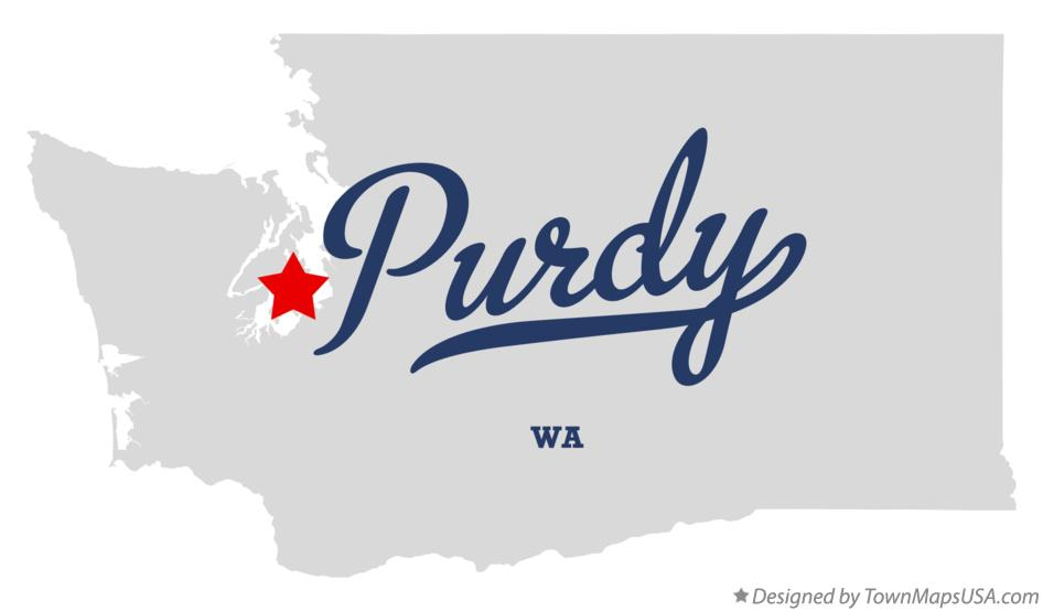 Map of Purdy Washington WA