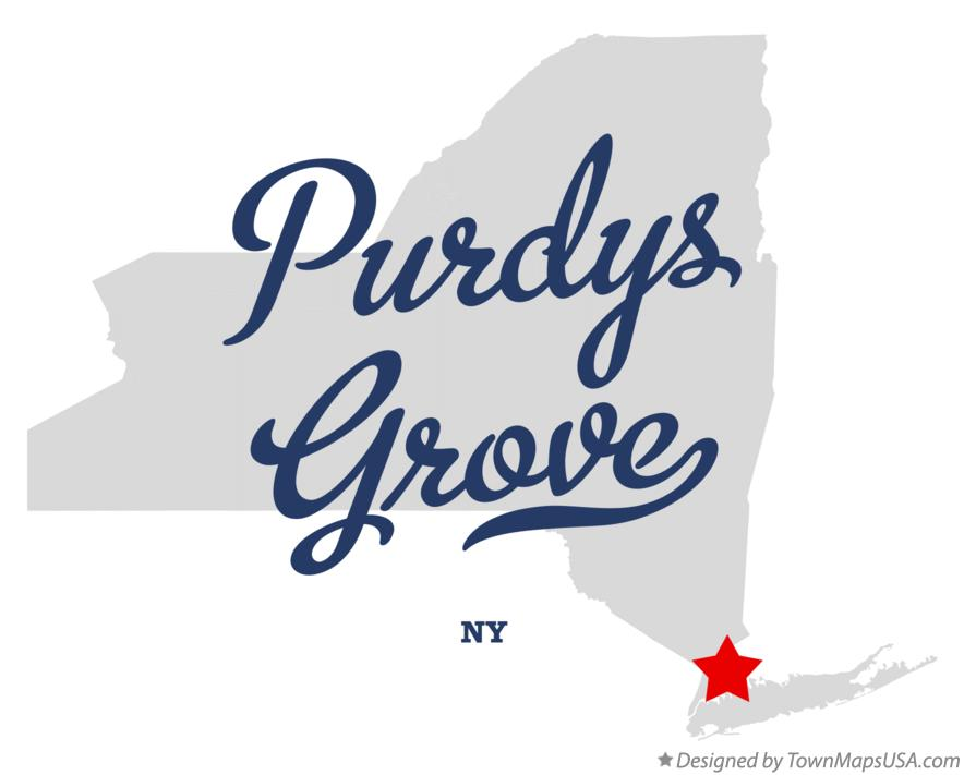 Map of Purdys Grove New York NY