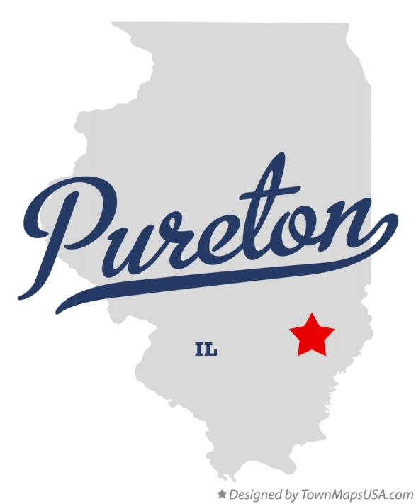Map of Pureton Illinois IL