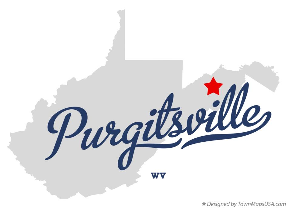 Map of Purgitsville West Virginia WV