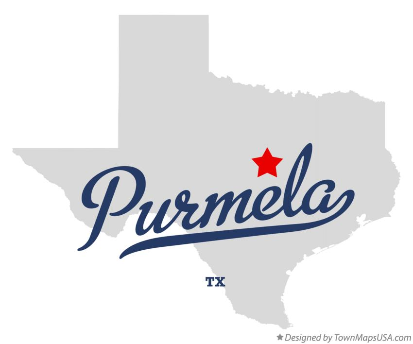 Map of Purmela Texas TX