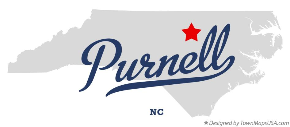 Map of Purnell North Carolina NC