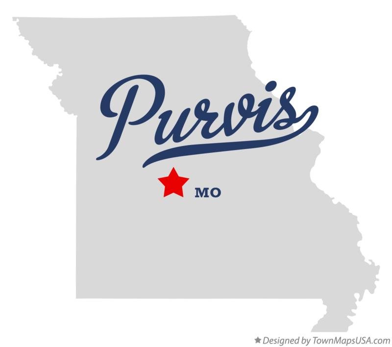 Map of Purvis Missouri MO