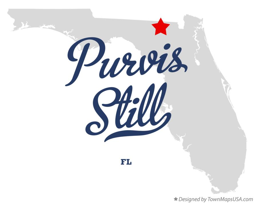 Map of Purvis Still Florida FL