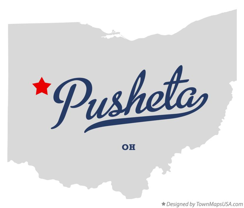 Map of Pusheta Ohio OH