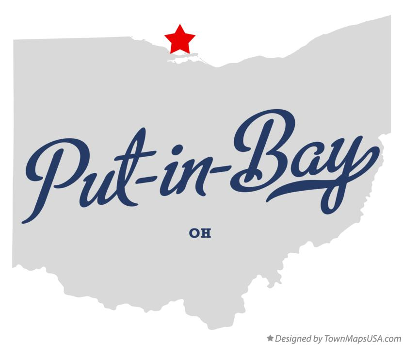 Map of Put-in-Bay Ohio OH