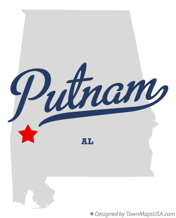 Map of Putnam Alabama AL