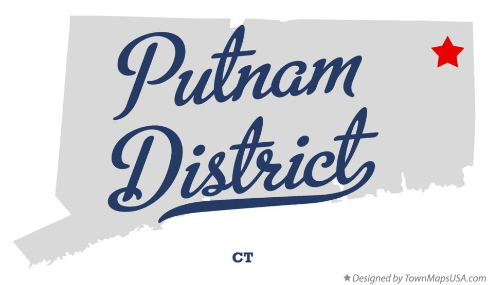 Map of Putnam District Connecticut CT