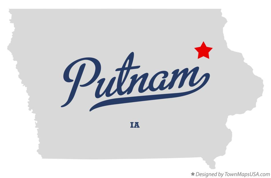 Map of Putnam Iowa IA