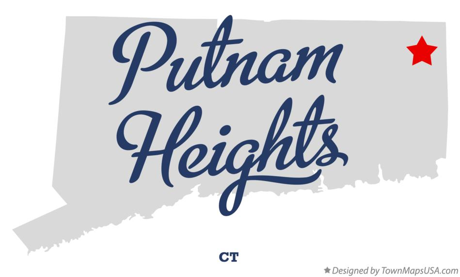 Map of Putnam Heights Connecticut CT