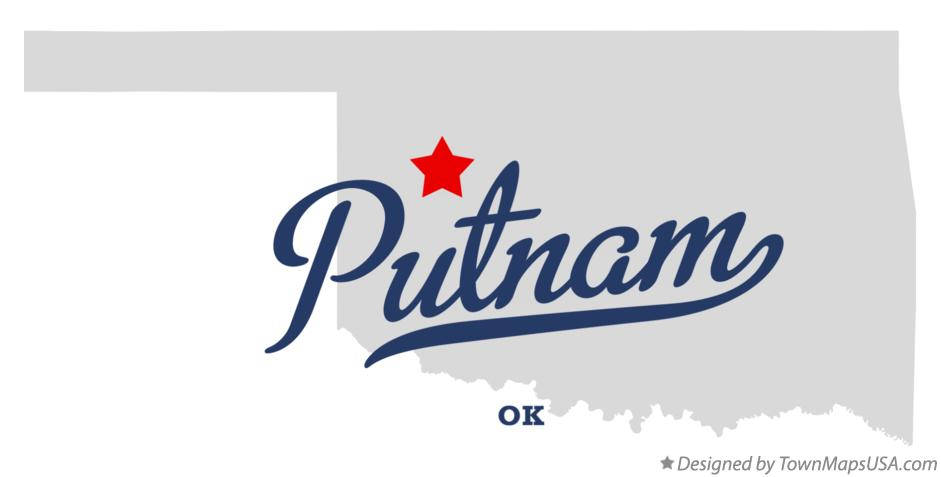 Map of Putnam Oklahoma OK