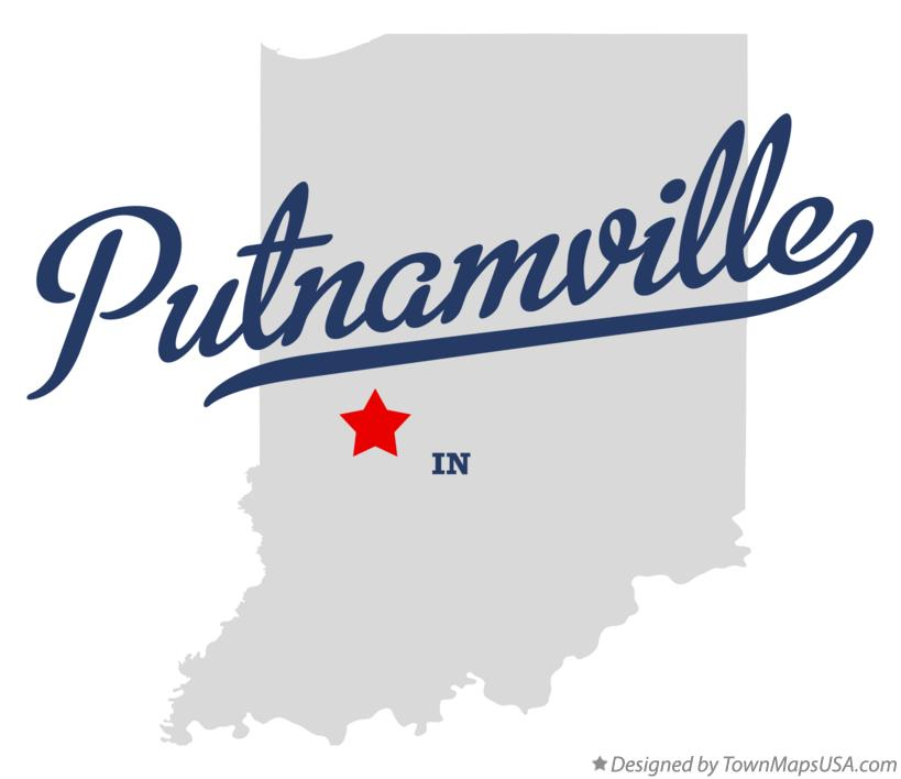 Map of Putnamville Indiana IN