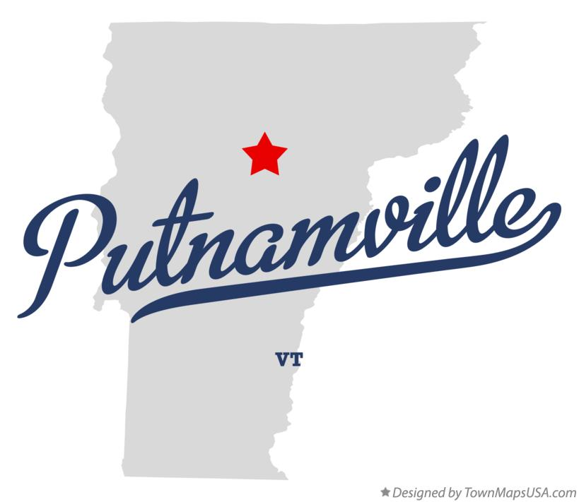 Map of Putnamville Vermont VT