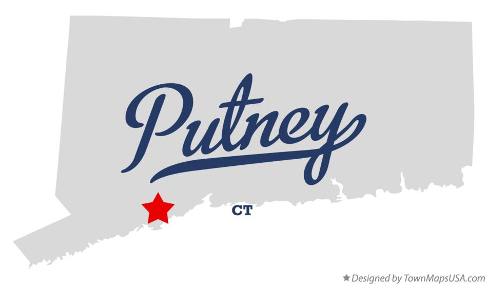 Map of Putney Connecticut CT
