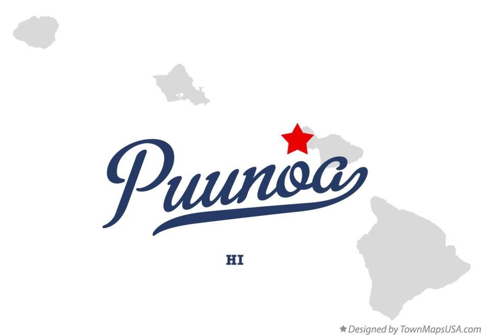 Map of Puunoa Hawaii HI
