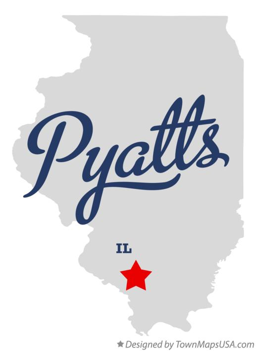 Map of Pyatts Illinois IL