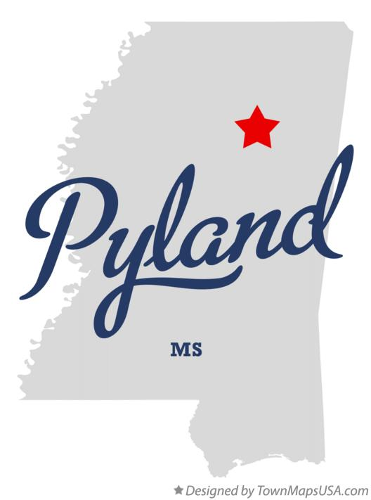 Map of Pyland Mississippi MS