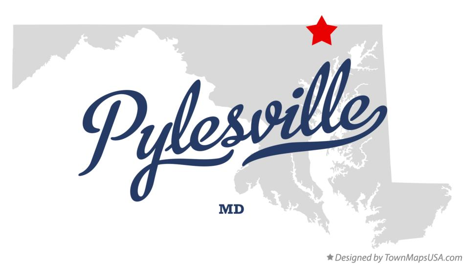 Map of Pylesville Maryland MD