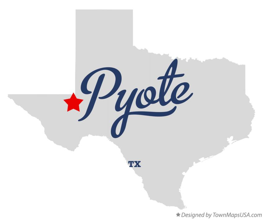Map of Pyote Texas TX