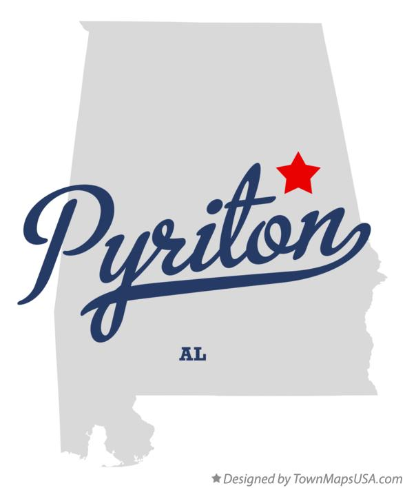Map of Pyriton Alabama AL