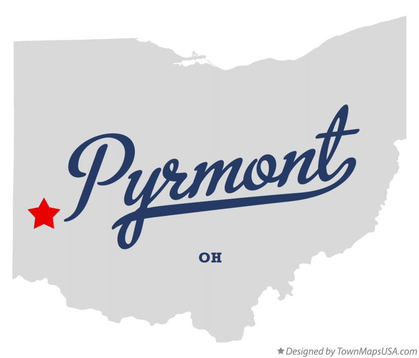 Map of Pyrmont Ohio OH