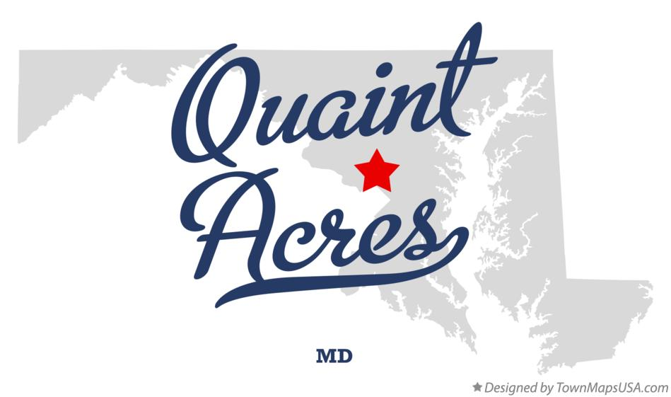 Map of Quaint Acres Maryland MD