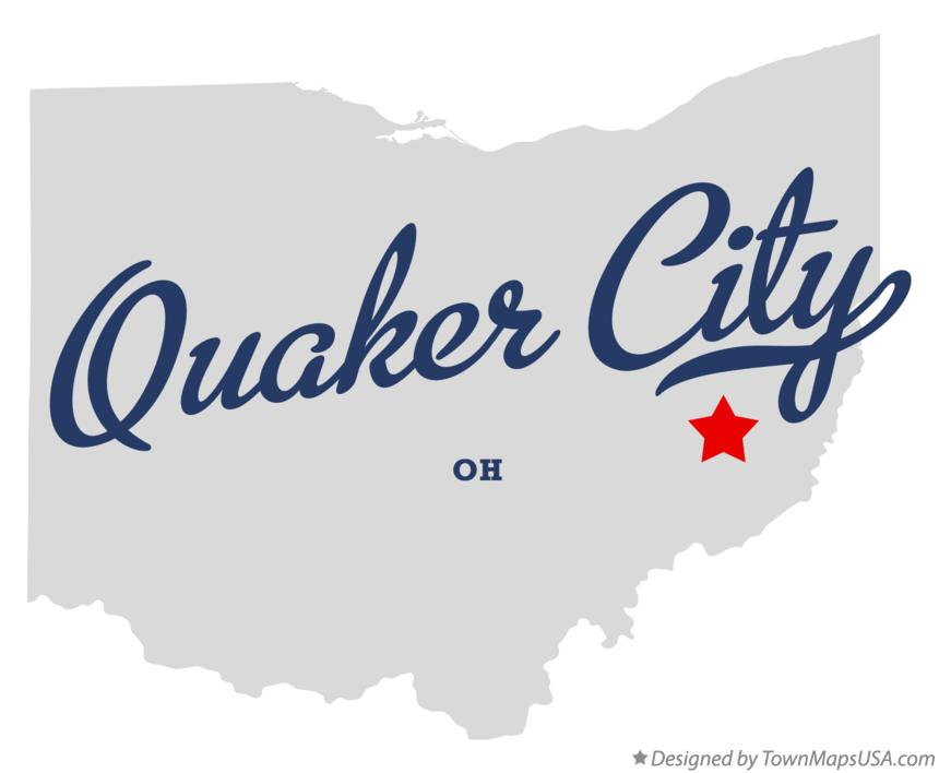 Map of Quaker City Ohio OH
