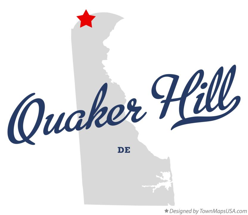Map of Quaker Hill Delaware DE