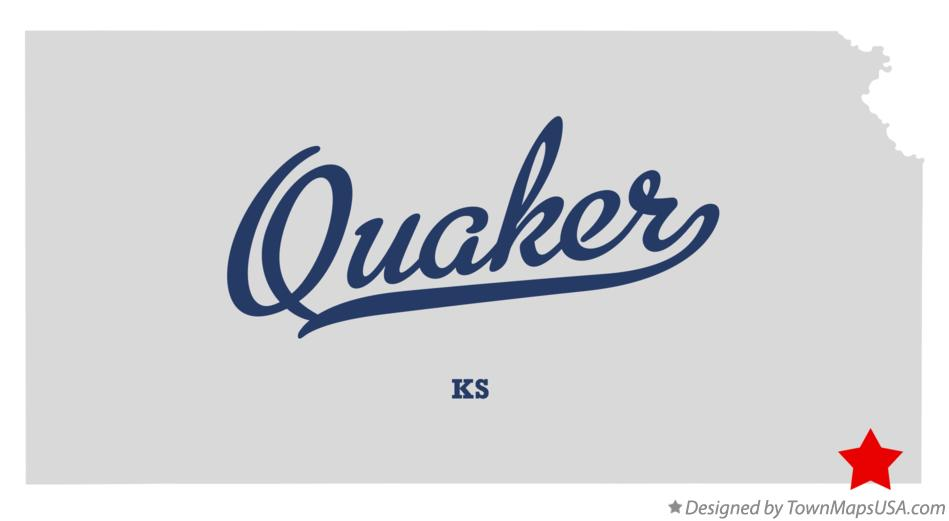 Map of Quaker Kansas KS