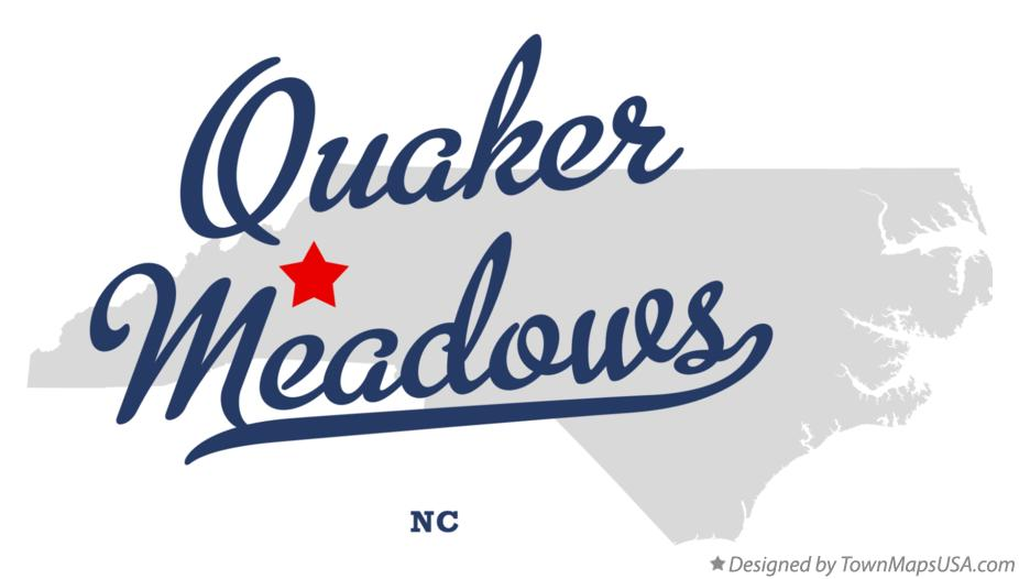 Map of Quaker Meadows North Carolina NC