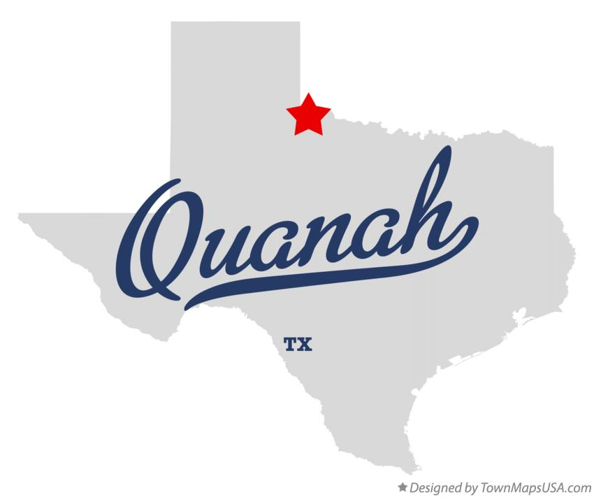 Map of Quanah Texas TX