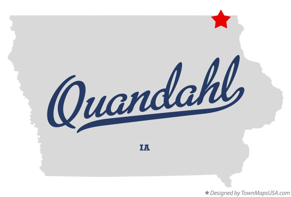 Map of Quandahl Iowa IA