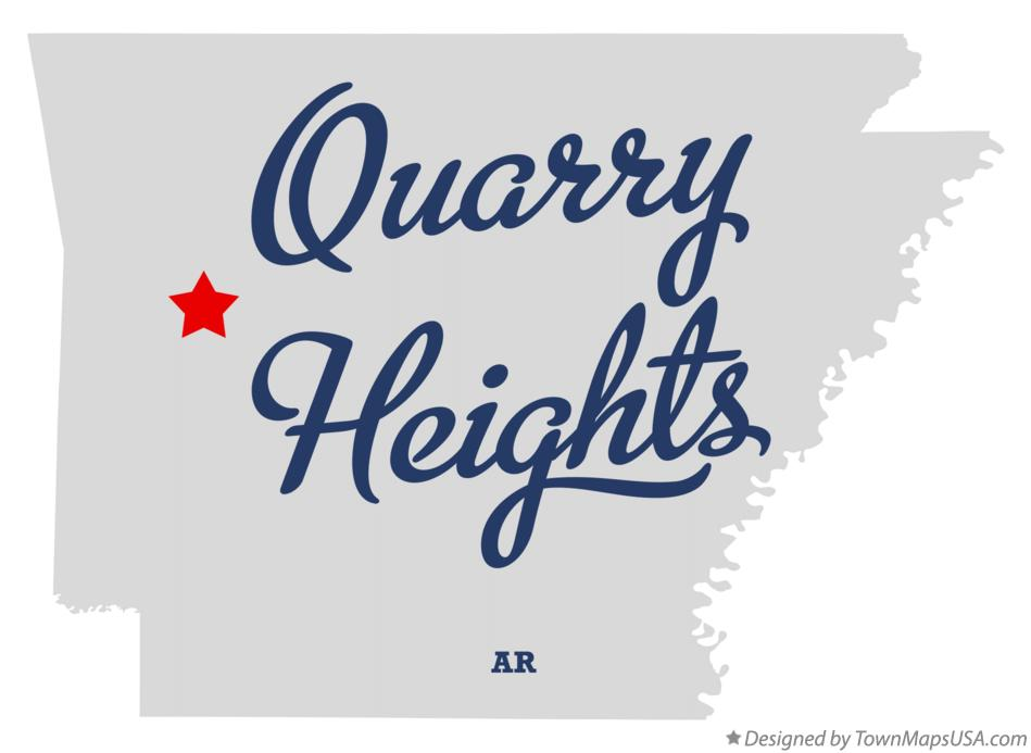 Map of Quarry Heights Arkansas AR