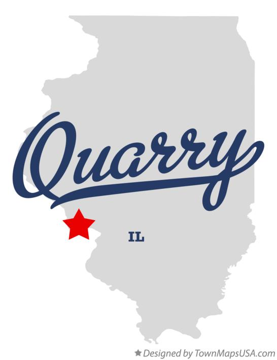 Map of Quarry Illinois IL
