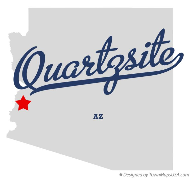 Map of Quartzsite Arizona AZ