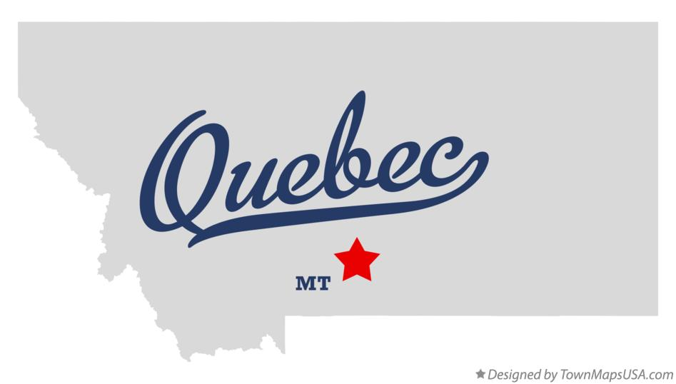 Map of Quebec Montana MT
