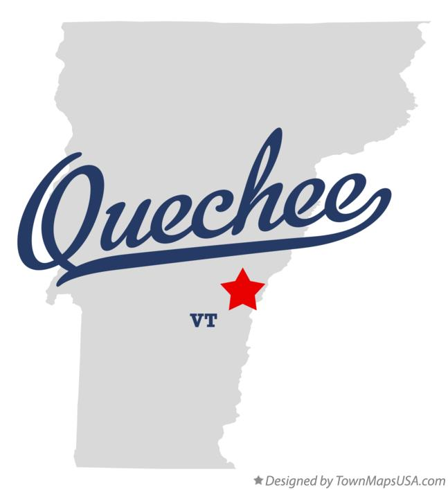 Map of Quechee Vermont VT