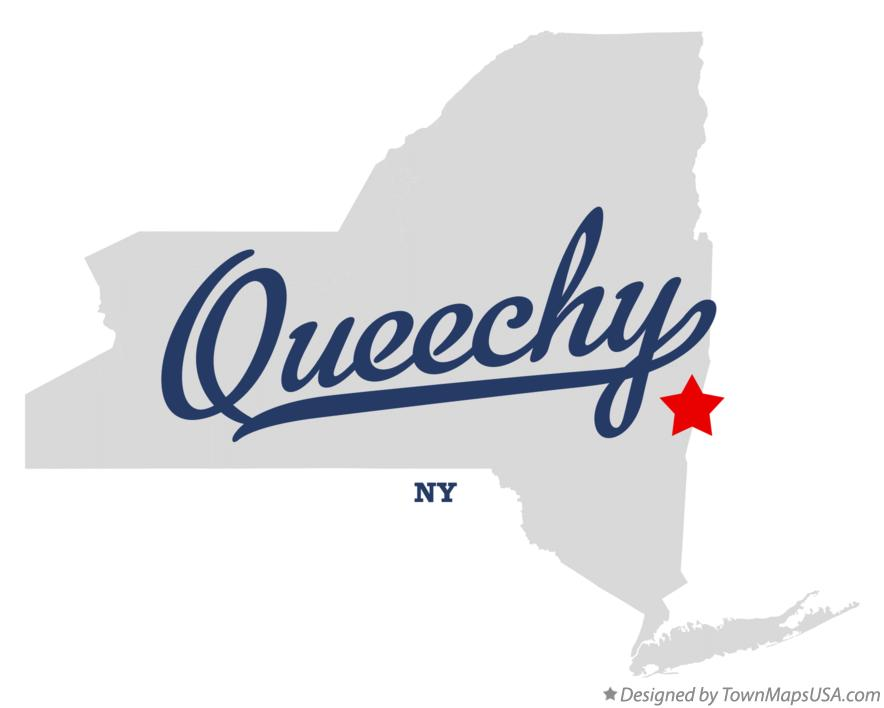 Map of Queechy New York NY
