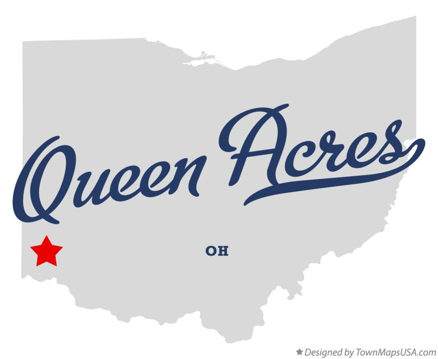 Map of Queen Acres Ohio OH