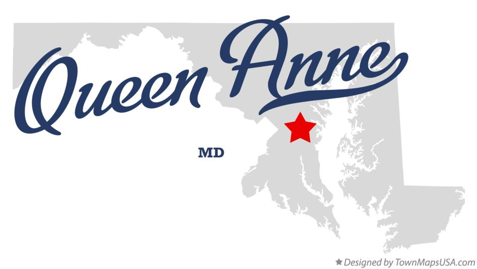 Map of Queen Anne Maryland MD