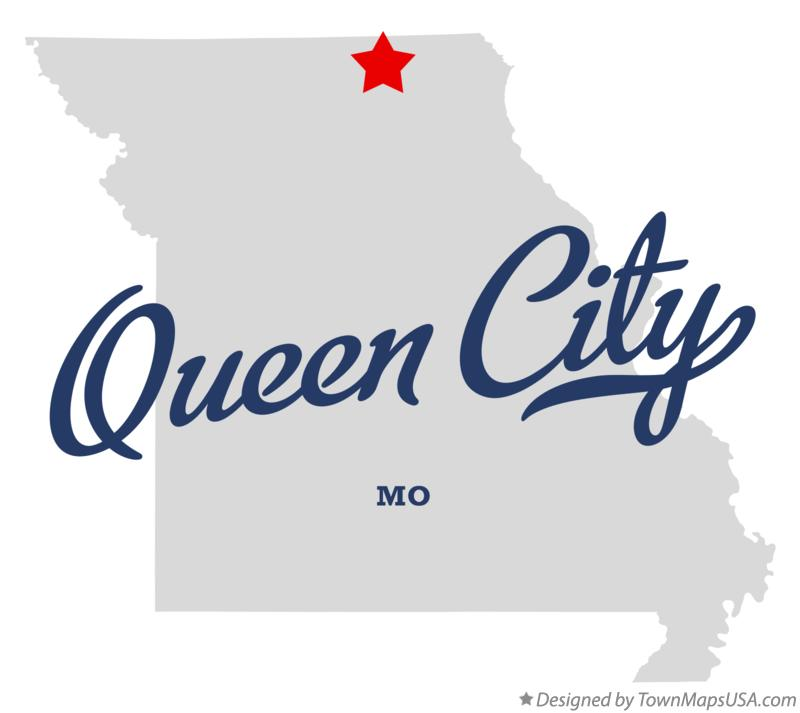 Map of Queen City Missouri MO