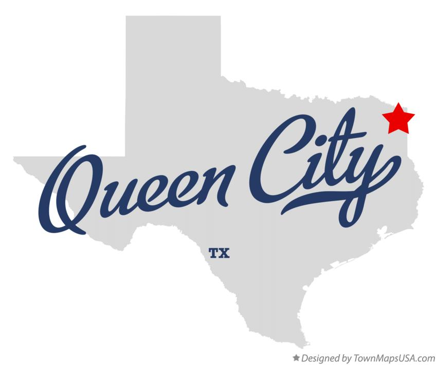 Map of Queen City Texas TX