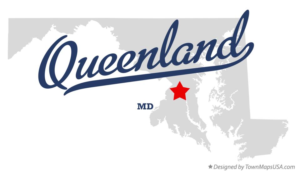 Map of Queenland Maryland MD