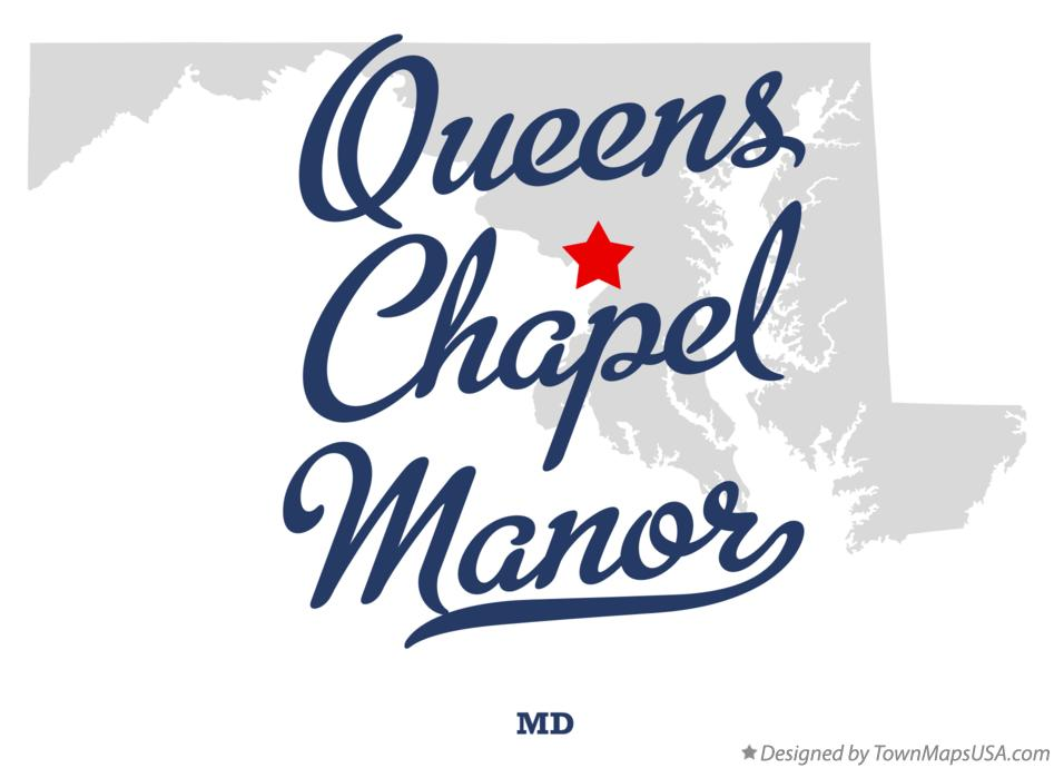 Map of Queens Chapel Manor Maryland MD