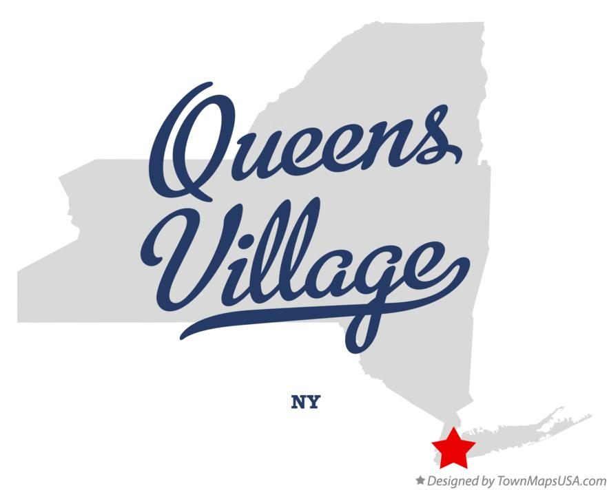 Map of Queens Village New York NY