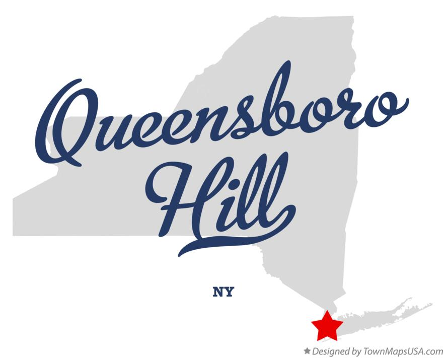 Map of Queensboro Hill New York NY