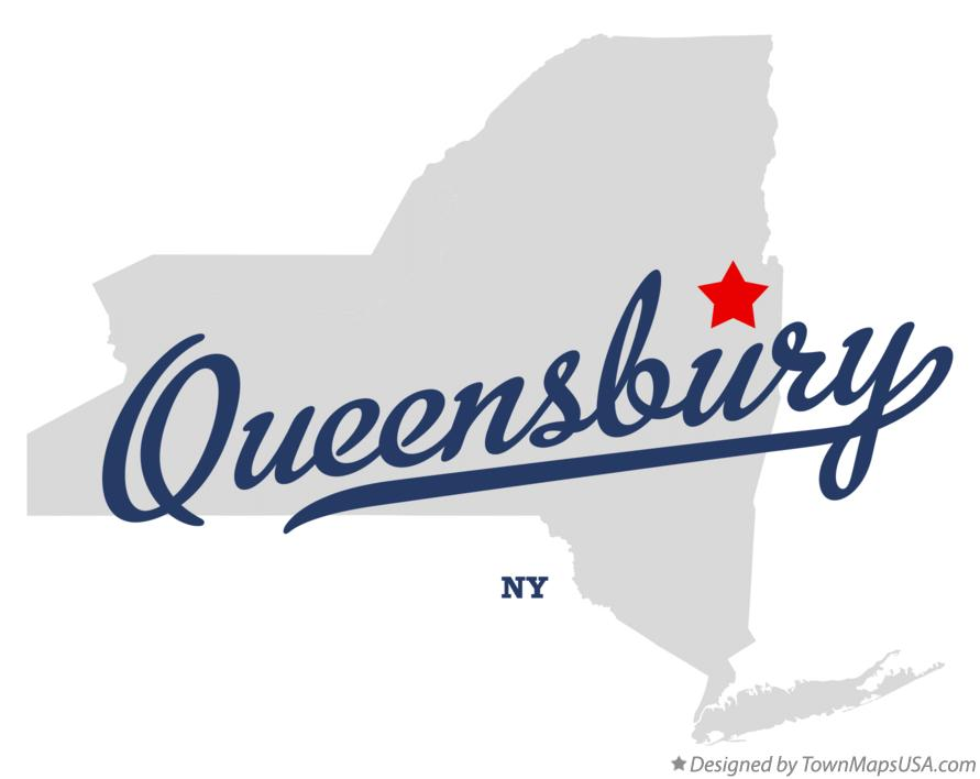 Map of Queensbury New York NY